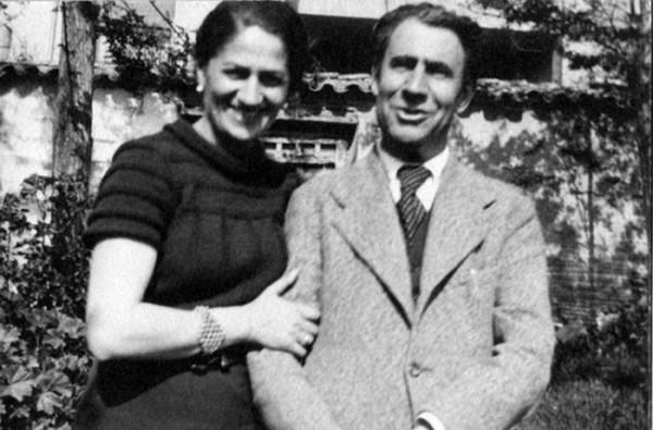Acín con a suya companyera, Conchita Monrás, afusilada pocos días dimpués. Foto: Fundación Ramón Acín