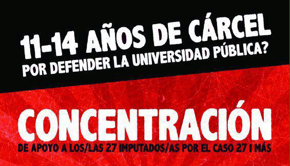 CGT convoca concentraciones por la libertad de los detenidos por la ocupación de la UAB en 2013