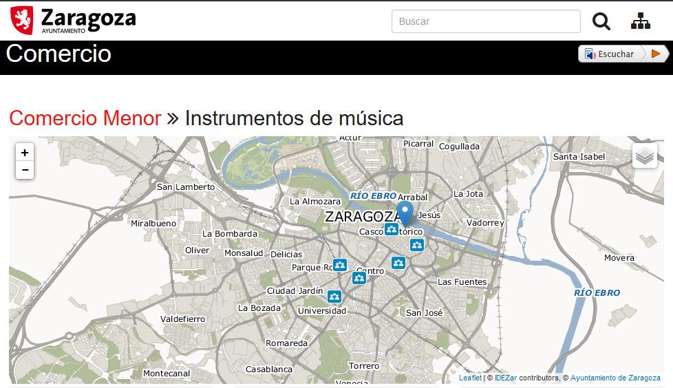 El comercio de proximidad de Zaragoza estrena su mapa digital en la web municipal