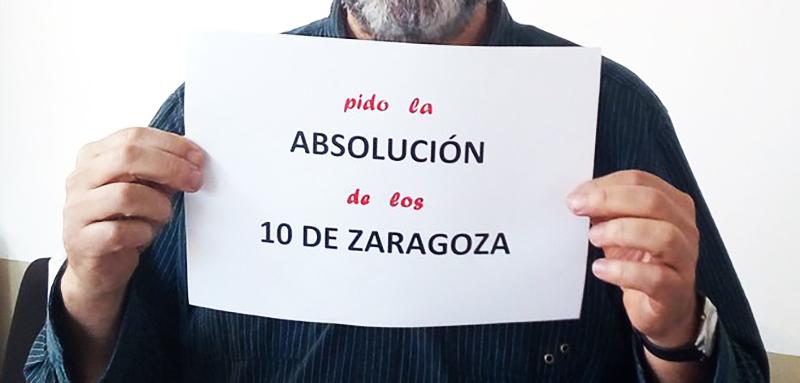 """Absolución 10 de Zaragoza: """"Nos quieren encerrar ocho años por manifestarnos contra el racismo y el fascismo"""""""