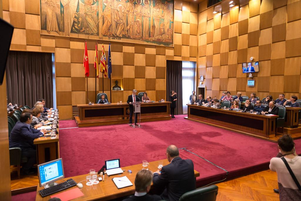 El debate sobre el Estado de Zaragoza concluye con la aprobación de 23 propuestas