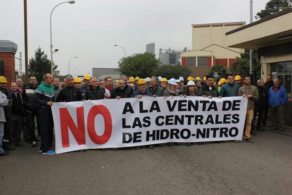 CHA-Cinca Medio apoya la concentración convocada por la plantilla de Hidro Nitro en Monzón