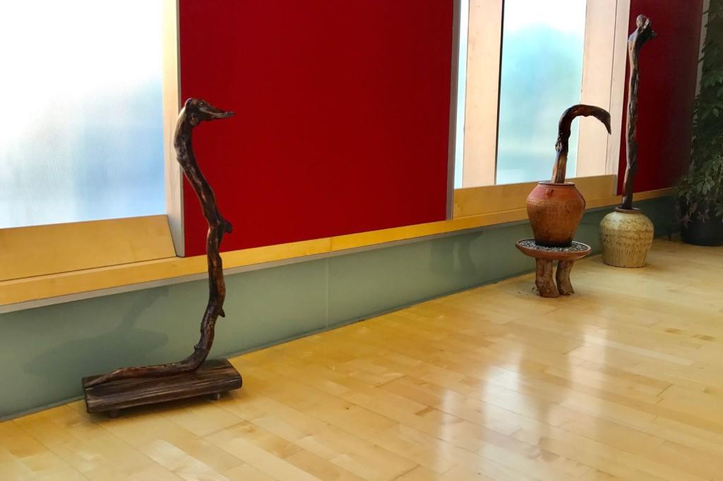 """Exposición """"RaíZes"""", esculturas de Tomás Cebrián, en el Centro Cívico """"Distrito 14"""""""