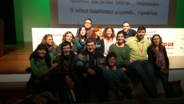 Representantes de la ESS aragonesa en el Congreso de Bilbo.