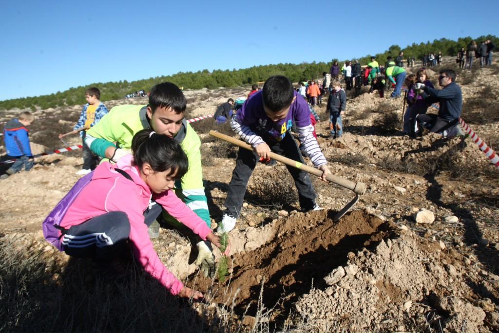 Casi 1.000 escolares de Zaragoza participarán en la Semana de la Repoblación Forestal 2016
