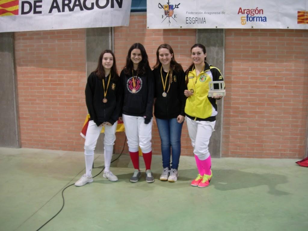 Juncal Berenguer gana el Trofeo del Club Esgrima Aragón en la modalidad de espada