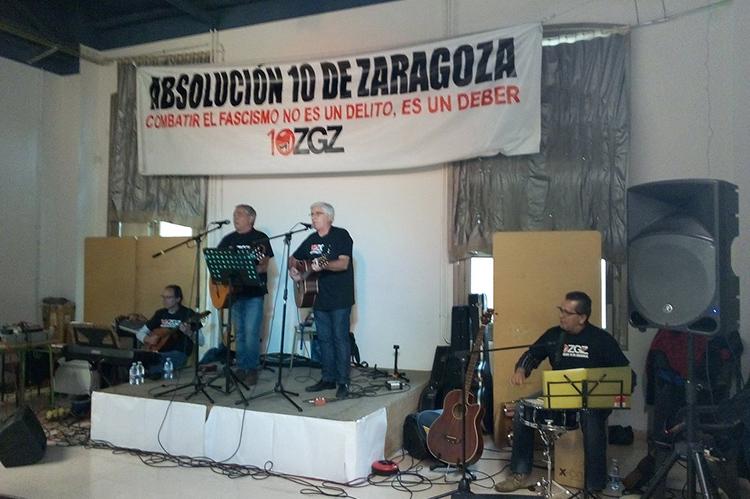 Éxito de la Jornada de apoyo a los 10 de Zaragoza en el Luis Buñuel