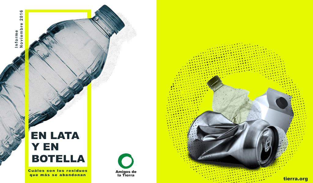 Las latas y las botellas, los residuos más abandonados