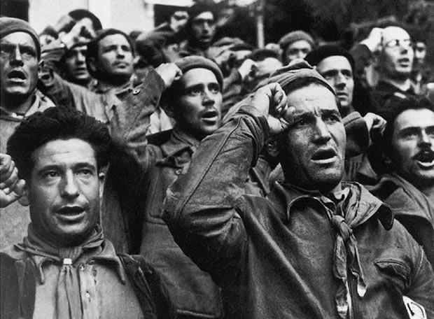 El PCE Aragón homenajea a las Brigadas Internacionales