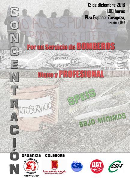 Cartel Concentración Zaragoza12 diciembre