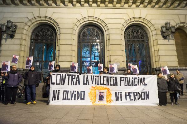 Concentración pidiendo justicia para Miguel Ángel en Zaragoza. Foto: Pablo Ibáñez (AraInfo)