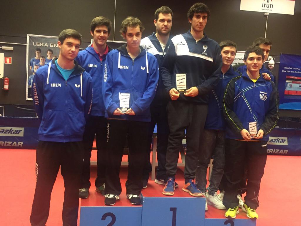 Helios se adjudica el torneo de tenis de mesa por equipos de Irun