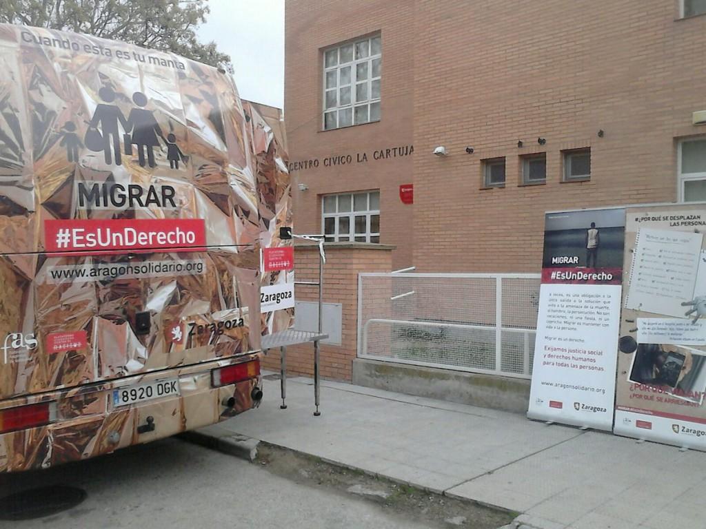 La campaña 'Migrar #EsUnDerecho' llega a su fin tras haber pasado por 17 barrios