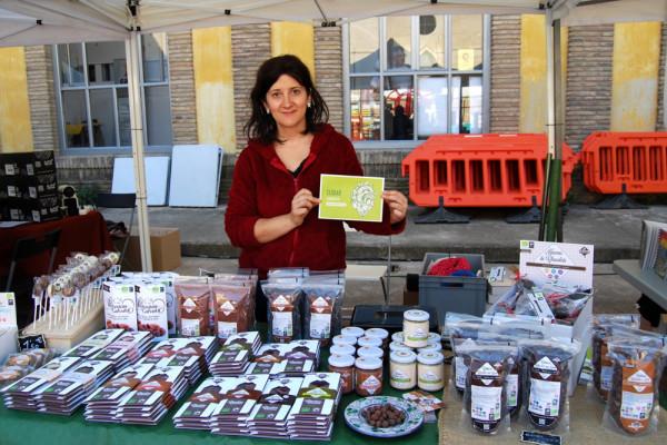 Chocolates Artesanos Isabel en la pasada feria del Mercado Social. Foto: Reson