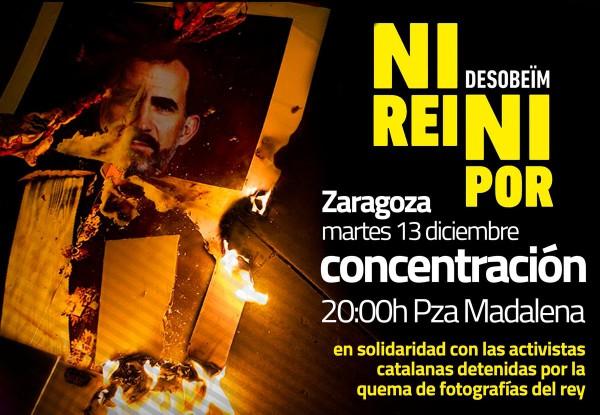 Cartell de la concentració a Saragossa.