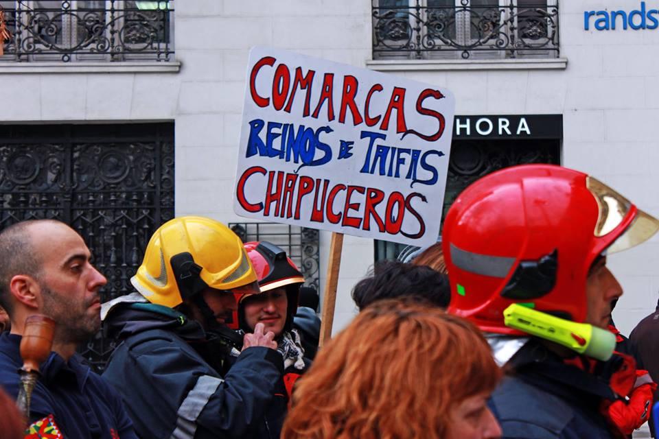 Bomberos de Aragón exigen que la DPH invierta en personal profesional para cubrir las 24 horas del día