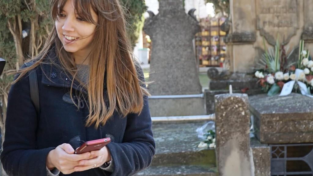 Más de 150 personas han participado este sábado en un masivo geocaching en el cementerio de Torrero de Zaragoza