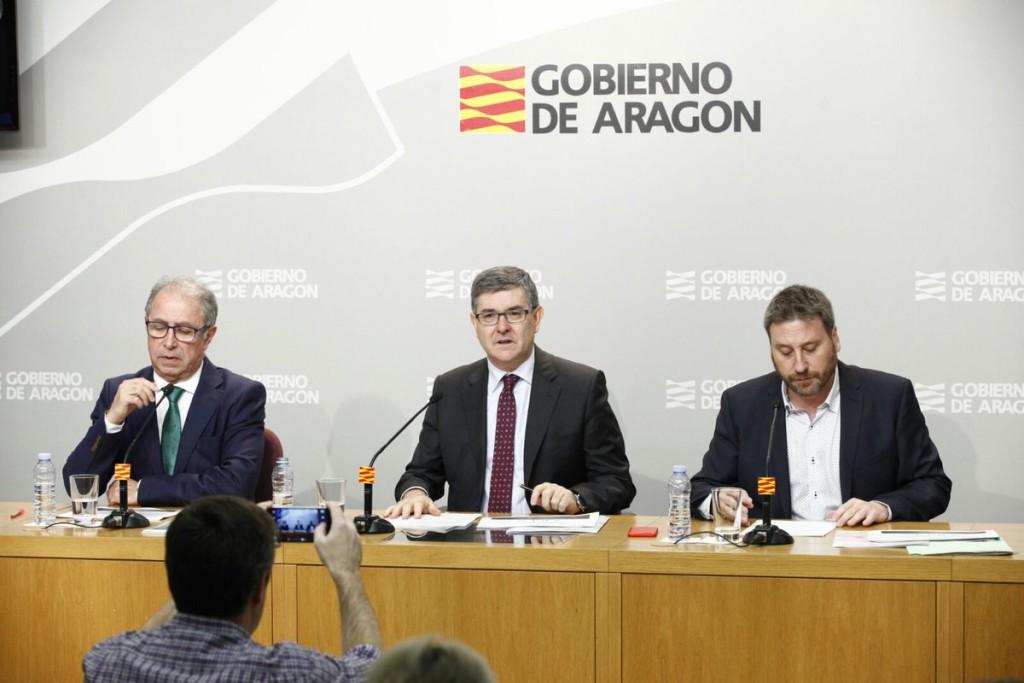 El Ejecutivo aragonés remite un borrador del proyecto de presupuestos a todos los grupos parlamentarios