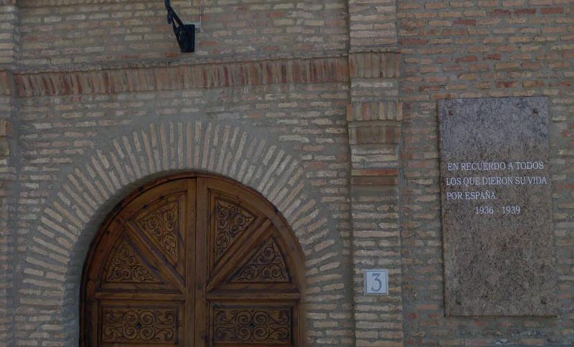 Figueruelas continúa manteniendo un callejero franquista