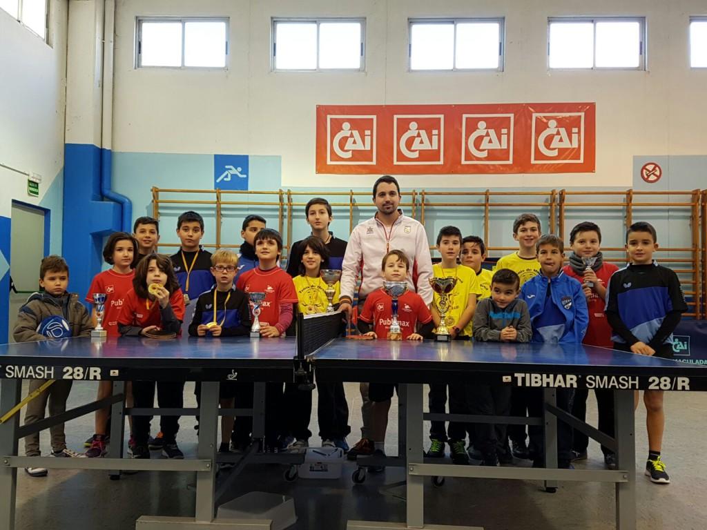 Gran éxito del Open Promesas del Publimax CAI Santiago Tenis de Mesa disputado en Zaragoza