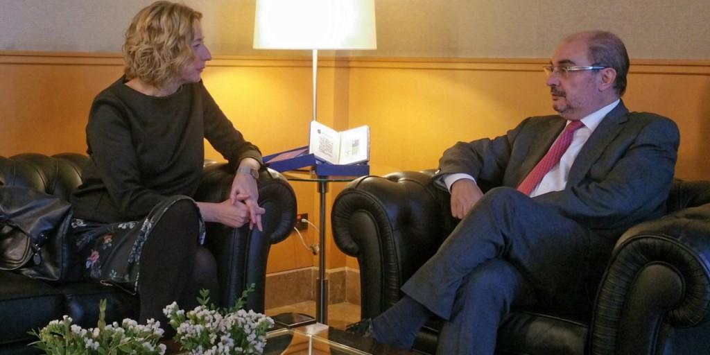 IU Aragón traslada a Lambán la necesidad de abordar la financiación territorial de Aragón