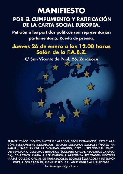 Manifiesto Carta Social Europea