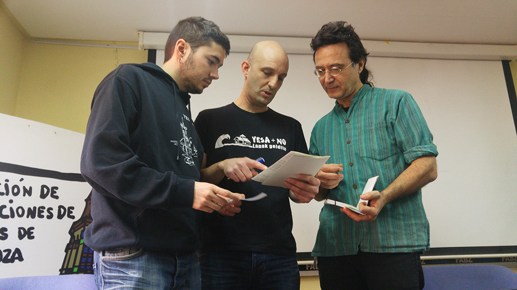 Iker Aramendia (Yesa + NO): «No estamos dispuestos a vivir así el resto de nuestros días porque no es vida»
