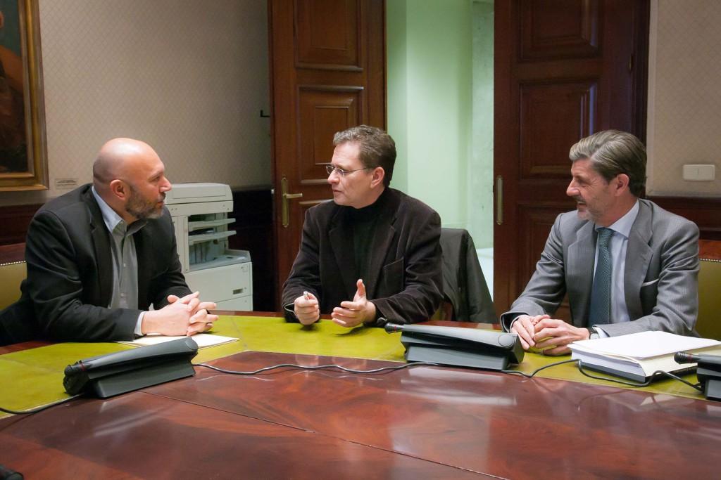 Sixto y Soares en la reunión mantenida este viernes.