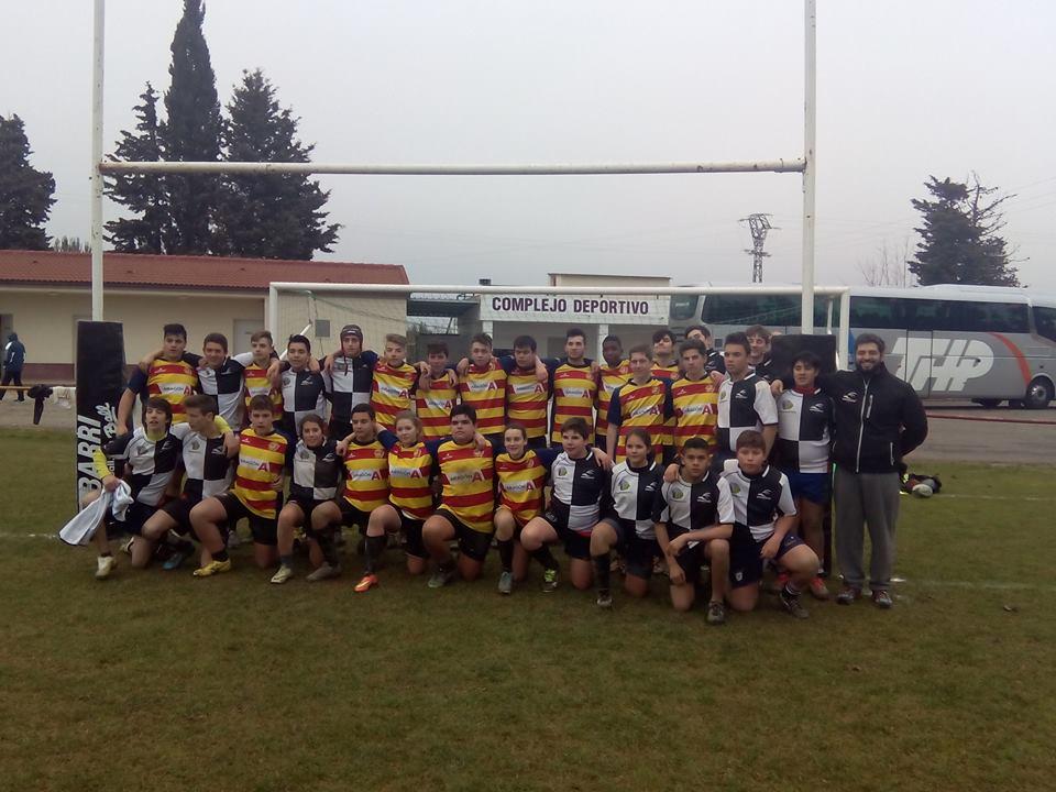 Derrota de las selecciones aragonesas de rugby sub-16 y sub-18