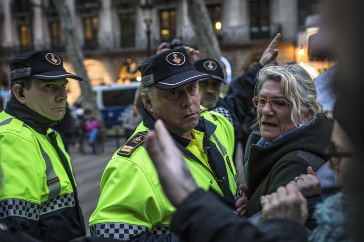Sindicatos de los diversos cuerpos policiales y de la Guardia Civil organizan una manifestación contra la CUP