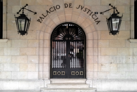 Aparecen restos humanos en el edificio de los juzgados de Teruel