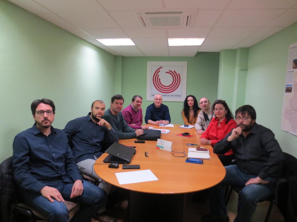 Las candidaturas de la confluencia en Aragón se reúnen para establecer estrategias conjuntas