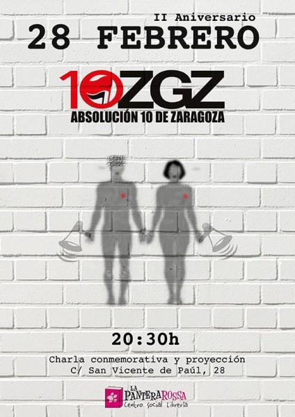 CARTEL Absolución 10 ZGZ 28 FEBRERO
