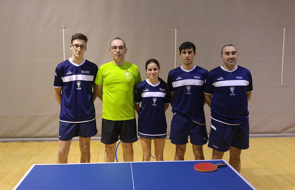 17 jugadores de clubes aragoneses participan en el Torneo Estatal de Tenis de Mesa