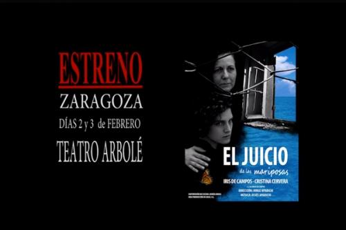 Producciones Graz estrena 'El juicio de las mariposas' en el Teatro Arbolé de Zaragoza