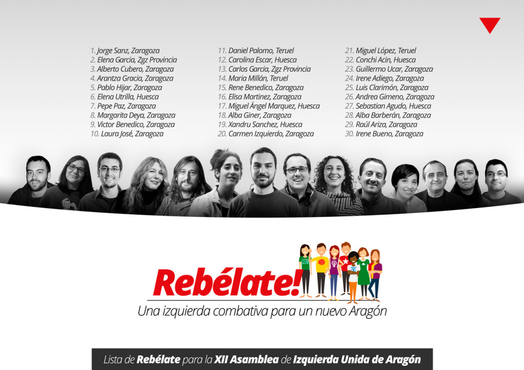"""La candidatura """"Rebélate"""" quiere transformar IU Aragón en """"una alternativa combativa"""""""