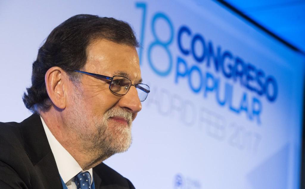 Rajoy durante la celebración del XVIII Congreso del PP. Foto: PP
