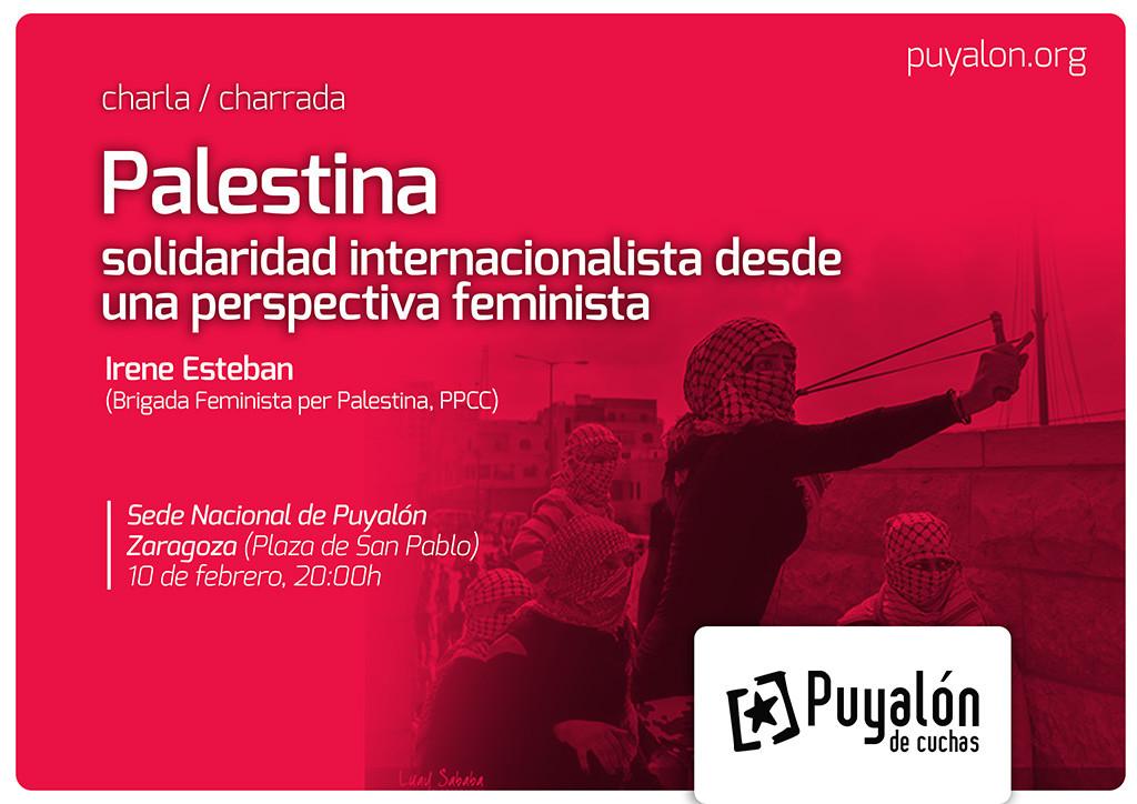 Puyalón organiza una charla con la Brigada Feminista por Palestina