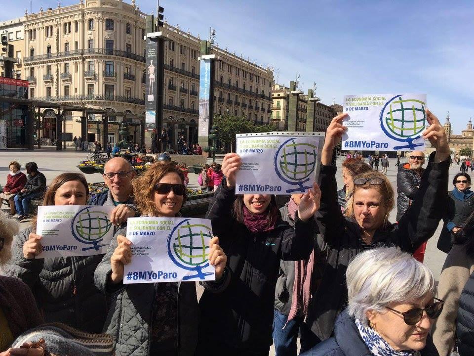 La Economía Social y Solidaria de Aragón secunda en bloque el Paro Mundial de Mujeres del 8 de Marzo
