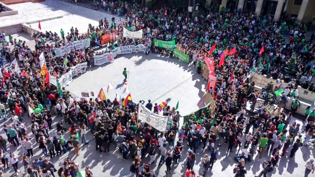 La Escuela Pública se paraliza en Aragón