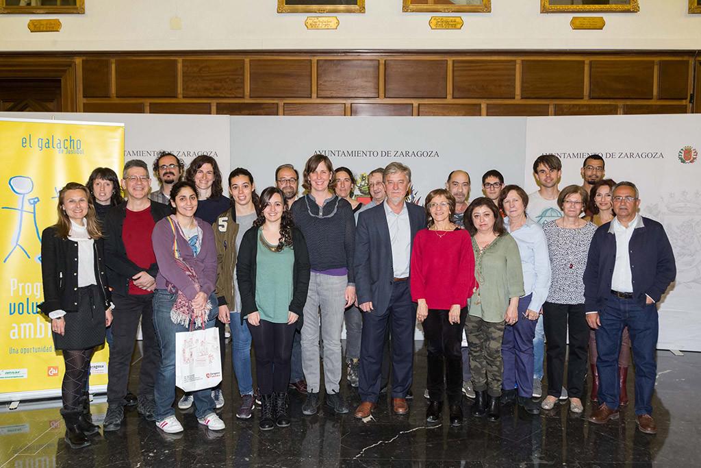 Santisteve reconoce la labor del voluntariado ambiental del Galacho de Juslibol en la protección de la biodiversidad