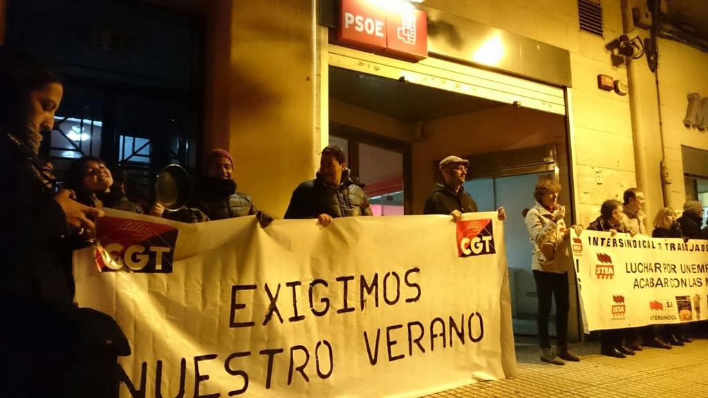 CGT exige a PSOE y PP que dejen de chantajear a los y las interinas