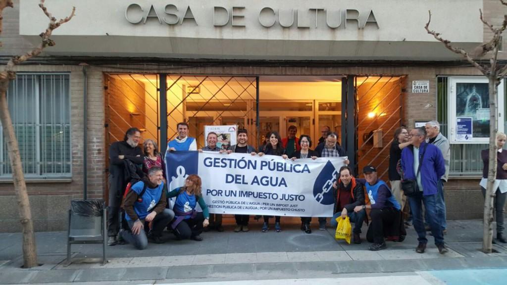 El sexto día de la Caravana por el Agua Pública llega a Caspe