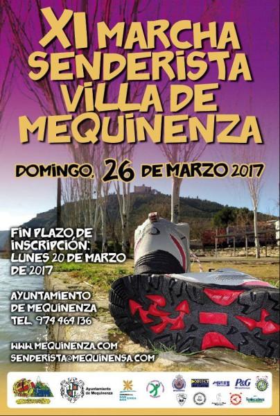 Cartel XI Marcha Senderista Villa de Mequinenza