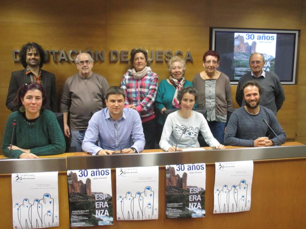 La Coordinadora Biscarrués celebra este sábado 30 años de lucha contra el pantano