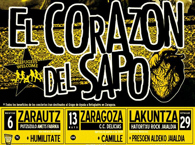 El Corazón del Sapo anuncia la gira '2017 formas de matar con unos tirantes' con tres conciertos solidarios