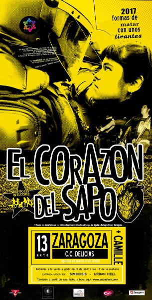 Cartel de Zaragoza en castellano.