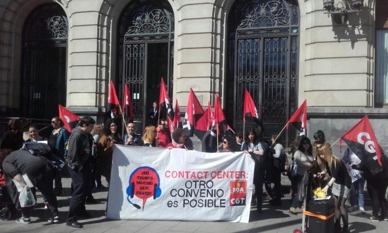 CGT y SOA secundan en Aragón la huelga en el sector del telemarketing