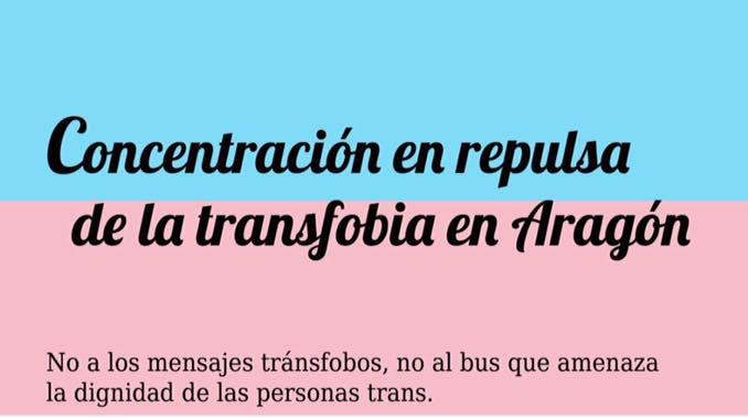 La Plataforma del 28J convoca en Zaragoza una concentración contra la transfobia y el cisexismo