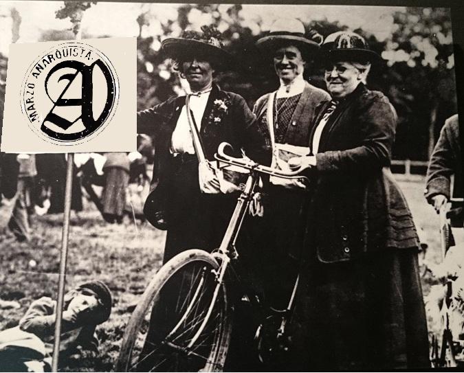 Marzo anarquista: bicicletada de memoria histórica de mujeres en lucha